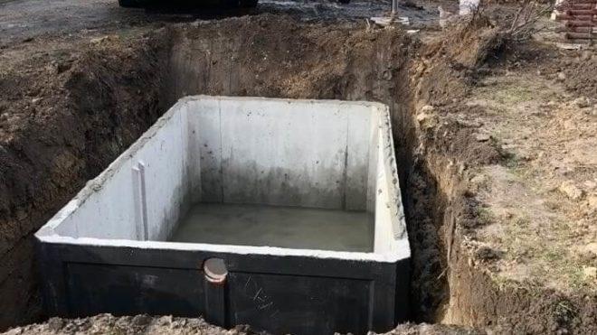 szamba betonowe jednokomorowe wnętrze
